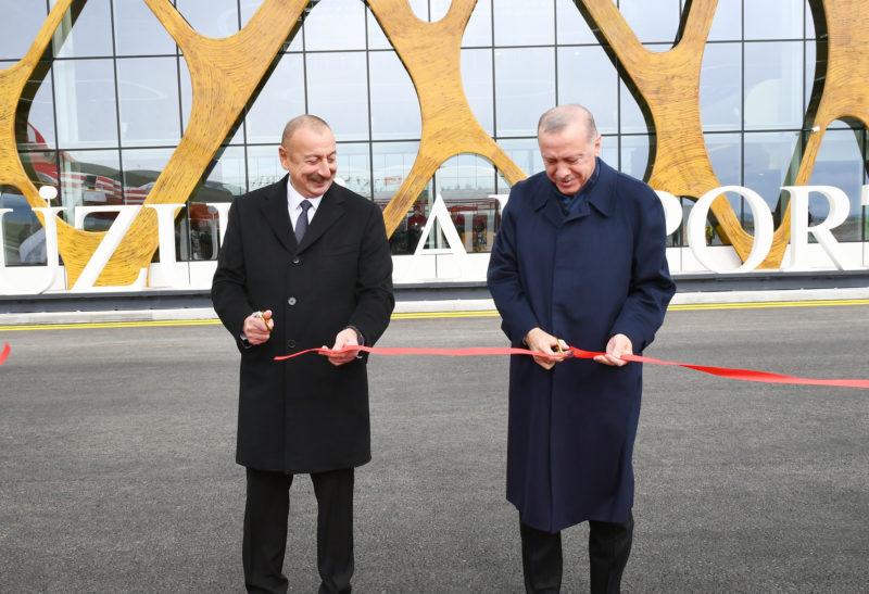 Presidents Erdogan and Aliyev inaugurate the Fuzuli International Airport