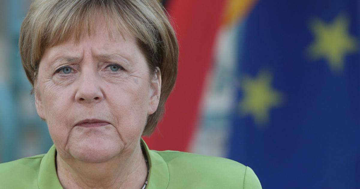 German Chancellor Angela Merkel speaks at Meseberg governmental house August 18, 2018, in Gransee, Germany. © 2018 Mikhail Svetlov/Getty Images